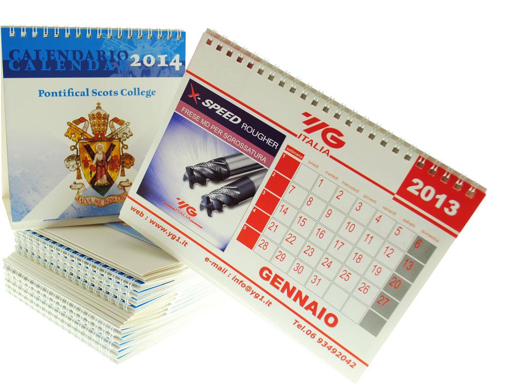 Tipografia former online il tuo mondo della stampa a roma stampa calendari personalizzati - Calendario da tavolo con foto proprie ...