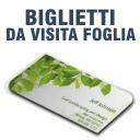 Biglietti da visita FOGLIA 84 x 54