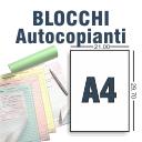 Blocchi autocopianti A4 da 3 Copie a Colori solo fronte