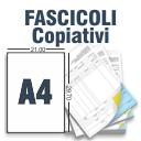 Fascicoli Copiativi A4 a 2 Copie 1 Colore solo fronte