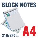 Block Notes incollati A4