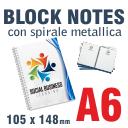 BlockNotes con spirale A6