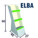 Elba - Espositore in cartone da terra