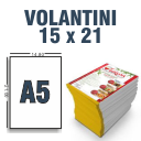 Volantini A5 Verticale 350 gr. 4+4